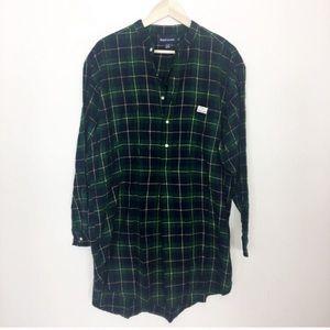 Ralph Lauren 100% cotton plaid nightshirt NWT